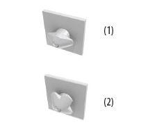 Байонет - фиксирующий наконечник - заглушка из жаропрочного поликарбоната эллипсообразной формы. Крепится на алюминиевом профиле для его соединения с кубиком-соединителем.