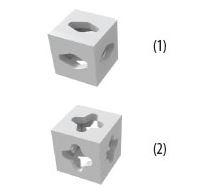 Кубик-соединитель для стендов Expoframe – переходник кубической формы из жаропрочного поликарбоната.